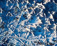 Badlands patterns, Badlands National Park, South Dakota   Aerial view  Big Bladlands Colos from white rock and soil, not snow