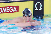 Aug 4, 2006; Irvine, CA, USA;  USA Swimming..Day 4 of the 2006 Conoco Phillips National Championships at the William Woollett Aquatics Center...Michael Phelps : M 100 meter backstroke final..Photo credit: Darrell Miho