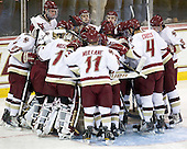 - The Boston College Eagles defeated the visiting University of Massachusetts-Lowell River Hawks 5-3 (EN) on Saturday, January 22, 2011, at Conte Forum in Chestnut Hill, Massachusetts.