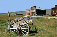 Bodie Ghost Town - Bodie is a ghost town in the Bodie Hills east of the Sierra Nevada mountain range in Mono County, California. The ghost town has been administered by California State Parks since becoming a state historic park in 1962, and receives about 200,000 visitors yearly. During its heyday as a bustling gold mining center, Bodie had the amenities of larger towns, including two banks, a railroad, miners unions, several daily newspapers and a jail. At its peak, 65 saloons lined Main Street, which was only  a mile long.  Murders, shootouts, barroom brawls and stagecoach holdups were regular occurrences until the town fizzled out with discoveries of silver and gold elsewhere.