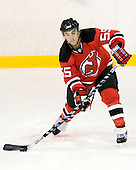 Stephen Gionta takes part in the third session on Saturday, September 15, 2007 of the New Jersey Devils training camp on Rink 2 of the Richard E. Codey Arena at South Mountain in West Orange, New Jersey...
