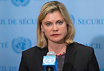 Press encounter with United Kingdom Secretary of State for International Development, H.E. Ms. Justine Greening, on the Security Council Meeting on the Maintenance of International Peace and Security: Security, Development and the Root Causes of Conflict