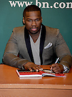 """50 Cent (Curtis Jackson) signs his new book, """"Formula 50"""" - New York"""