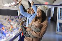 SPEEDSKATING: CALGARY: Olympic Oval, 25-02-2017, ISU World Sprint Championships, Jill Lauren de Robles en Jax Nuis, ©photo Martin de Jong