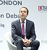 Sadiq Khan<br /> Mayor of London <br /> State of London debate hosted by LBC <br /> at The O2 Arena, London, Great Britain <br /> 30th July 2016 <br /> <br /> <br /> James Murray <br /> Deputy Mayor <br /> Housing <br /> <br /> <br /> Photograph by Elliott Franks <br /> Image licensed to Elliott Franks Photography Services