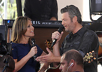 NEW YORK, NY-August 05:  Savannah Guthrie, Blake Shelton perform on NBC's Today Show Citi Concert Series at Rockefeller Center in New York. NY August 05, 2016. Credit:RW/MediaPunch