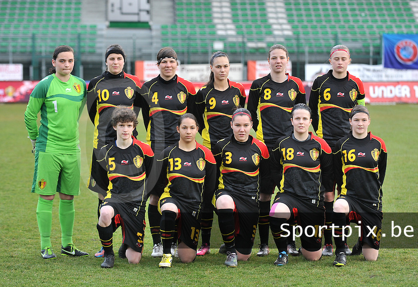 Russia U19 - Belgium U19 : Team Belgium.foto DAVID CATRY / Nikonpro.be