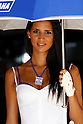 July 3, 2010 - Catalunya, Spain  -  A grid girl poses in the paddock prior the Catalunya Grand Prix July 3, 2010. (Photo Andrew Northcott/Nippon News)