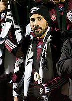 Colorado's Captain, Pablo Mastroeni, shortly before receiving the MLS Cup.