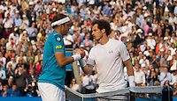 GILLES MULLER (LUX), ANDY MURRAY (GBR)<br /> <br /> TENNIS - AEGON CHAMPIONSHIPS -  2015 -  QUEENS CLUB - LONDON -  ATP 500- 2015  - ENGLAND - UNITED KINGDOM<br /> <br /> &copy; AMN IMAGES