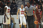 "Ole Miss' Marshall Henderson (22) reacts to the official who called him for a foul  vs. Arkansas at the C.M. ""Tad"" Smith Coliseum in Oxford, Miss. on Saturday, January 19, 2013. Mississippi won 76-64. (AP Photo/Oxford Eagle, Bruce Newman)"