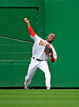 12 April 2008: Washington Nationals' outfielder Willie Harris in action against the Atlanta Braves at Nationals Park, in Washington, DC. The Braves defeated the Nationals 10-2...Mandatory Photo Credit: Ed Wolfstein Photo