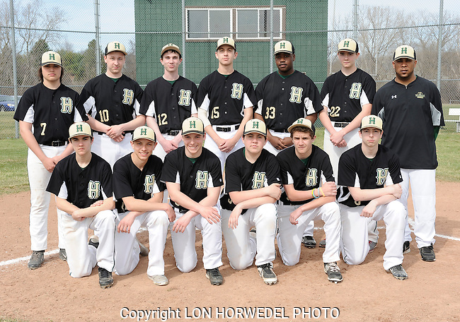 Huron High School junior varsity baseball team.
