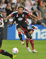 Nick DeLeon (18) of D.C. United.  The Chicago Fire defeated D.C. Untied 3-0, at RFK Stadium, Friday October 4 , 2013.