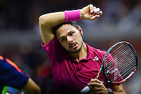 NEW YORK, USA - SEPT 11, Stan Wawrinka of Switzerland  reacts after losing a point against Novak Djokovic of Serbia during their Men's Singles Final Match of the 2016 US Open at the USTA Billie Jean King National Tennis Center on September 11, 2016 in New York.  photo by VIEWpress