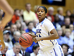22 March 2014: Duke's Ka'lia Johnson. The Duke University Blue Devils played the Winthrop University Eagles in an NCAA Division I Women's Basketball Tournament First Round game at Cameron Indoor Stadium in Durham, North Carolina.