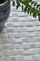 "Giovanni Barbieri 2"" x 2"" inch field Timeworn in Bianco Carrara."