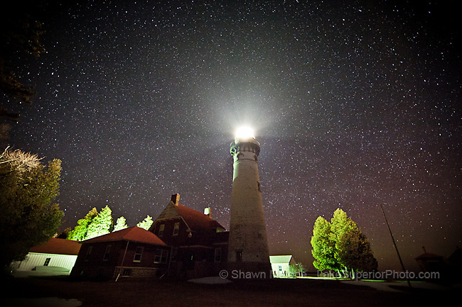 Seul Choix Lighthouse and stars lighthouses in the Upper Peninsula of Michigan