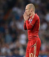 FUSSBALL   CHAMPIONS LEAGUE SAISON 2011/2012  HALBFINALE  RUECKSPIEL      Real Madrid - FC Bayern Muenchen           25.04.2012 Arjen Robben (FC Bayern Muenchen)  enttaeuscht