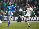 St Johnstone v Celtic.....14.02.15<br /> Steven Anderson and Leigh Griffiths<br /> Picture by Graeme Hart.<br /> Copyright Perthshire Picture Agency<br /> Tel: 01738 623350  Mobile: 07990 594431
