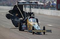 Sep 25, 2016; Madison, IL, USA; NHRA top fuel driver Doug Kalitta during the Midwest Nationals at Gateway Motorsports Park. Mandatory Credit: Mark J. Rebilas-USA TODAY Sports