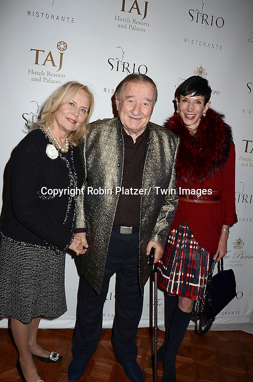 Cornelia Bregman, Sirio Maccioni and Amy Fine Collins attend the Sirio Ristorante New York opening in the Pierre Hotel, a TAJ Hotel on October 24, 2012 in New York City. Sirio Maccioni hosted the party