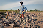 A worker in a quarry near Brazzaville, Congo, 2007.<br />