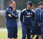 Kris Boyd ponders matters of great importance as Kenny Miller looks on