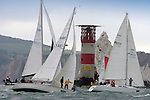 Round the Island Race  Isle of Wight yachts sailing Needles