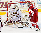 Brian Billett (BC - 1), Danny O'Regan (BU - 10) - The Boston College Eagles defeated the visiting Boston University Terriers 6-4 (EN) on Friday, January 17, 2014, at Kelley Rink in Conte Forum in Chestnut Hill, Massachusetts.