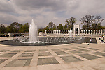 Washington DC, The National World War II Memorial, showing Pacific and European Theatres, with 4000 stars one each for 100 men who died, hosting veterans returning for a final look.  Photo wash99311-70699..Photo copyright Lee Foster, www.fostertravel.com, lee@fostertravel.com, 510-549-2202..