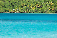 View of Gibney Beach from Hawksnest Beach,<br /> Virgin Islands National Park<br /> St. John, US Virgin Islands