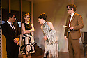 London, UK. 27.11.2012. MERRILY WE ROLL ALONG opens at the Menier Chocolate Factory. Director Maria Friedman, lighting design by David Hersey and set and costume design by Soutra Gilmour. Picture shows: Mark Umbers, Clare Foster, Josefina Gabrielle, Damien Humbley. Photo credit: Jane Hobson.