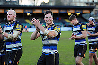 Francois Louw of Bath Rugby acknowledges the crowd after the match. Aviva Premiership match, between Bath Rugby and London Irish on March 5, 2016 at the Recreation Ground in Bath, England. Photo by: Patrick Khachfe / Onside Images