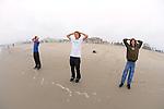 Ian Simon, Joe Marcus & Spencer Blattel, Looking Out At The Ocean On Santa Monica Beach