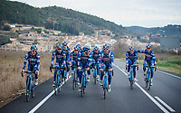 Team Wanty-Groupe Gobert at pre-season Training Camp around Alicante/Spain, january 2016<br /> <br /> Antoine Demoiti&eacute; (BEL/Wanty-Groupe Gobert) on the far right