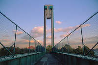 New York City, New York, Wards Island pedestrian Bridge over Harlem River, connecting Manhatten and Wards Island