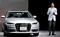 Audi Japan President, Hiroshi Okita attends a press conference in Tokyo, Japan, on August 23, 2011. (Photo by AFLO)