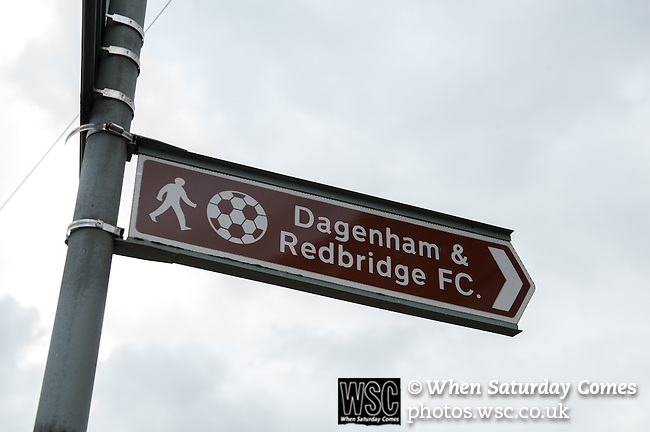 Dagenham and Redbridge 1 Burton Albion 3, 21/02/2015. Victoria Road, League Two. Sign for the stadium. Burton Albion moved to the top of League Two following a hard-fought win over Dagenham & Redbridge played in-front of 1,718 supporters. Photo by Simon Gill.