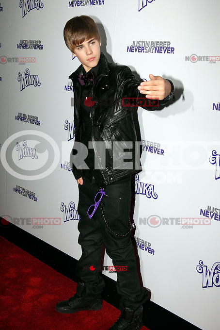 Justin Bieber attends the New York premiere of 'Justin Bieber: Never Say Never' at Regal E-Walk 13 on February 2, 2011 in New York City on February 2, 2011  &copy; Star Shooter / MediaPunchInc *NortePhoto.com*<br />