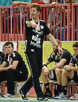 Handball 1. Bundesliga  2012/2013  in der Paul Horn Arena Tuebingen TV Neuhausen - Fuechse Berlin Trainer Markus Gaugisch (TV Neuhausen)