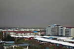 The ash plume from the erupting volcano in Grímsvötn May 2011, reaches Reykjavík, the capital of Iceland