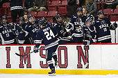 Mike Doherty (Yale - 24) - The Harvard University Crimson defeated the Yale University Bulldogs 6-4 in the opening game of their ECAC quarterfinal series on Friday, March 10, 2017, at Bright-Landry Hockey Center in Boston, Massachusetts.