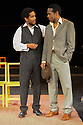 "London, UK. 21.05.2012. Peter Brooks' production of ""The Suit"" opens at the Young Vic. Picture shows: Jared McNeill (as Maphikela) and William Nadylam (as Philemon)."