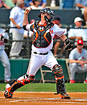 13 March 2009: Baltimore Orioles' catcher Matt Wieters in action during a Spring Training game against the St. Louis Cardinals at Fort Lauderdale Stadium in Fort Lauderdale, Florida. The Cardinals defeated the Orioles 6-5 in the Grapefruit League matchup. Mandatory Photo Credit: Ed Wolfstein Photo