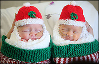 Miracle twins home for Xmas.