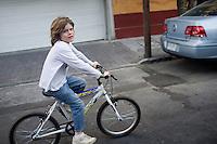 Felix on his bike in the condesa, Mexico DF, Mexico