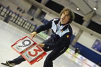 SCHAATSEN: CALGARY: Olympic Oval, 10-11-2013, Essent ISU World Cup, Bart Veldkamp (trainer/coach Team Stressless), ©foto Martin de Jong