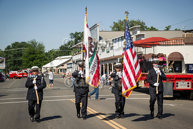 137th annual Ione Homecoming Parade, Rancheros and Sombreros theme, downtown Main St., Ione, Calif....Ione Fire Dept.