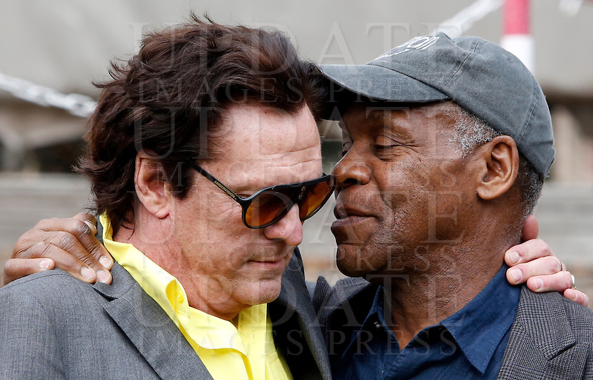 Gli attori statunitensi Michael Madsen e Danny Glover, a destra, durante un photocall in occasione dell'inizio delle riprese del film &quot;Sights of Death&quot; a Roma, 23 gennaio 2014.<br /> U.S. actors Michael Madsen and Danny Glover, right, during a photocall on the occasion of the start of the shooting of the movie &quot;Sights of Death&quot; in Rome, 23 January 2014.<br /> UPDATE IMAGES PRESS/Riccardo De Luca